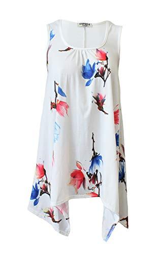 Tulip Runway grande Robe taille ample pour unie et White longue Splash femme B7w8qSBaP