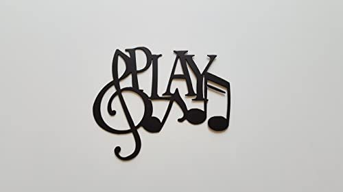 Play Word And Music Notes Metal Wall Art Decor Amazonca Home