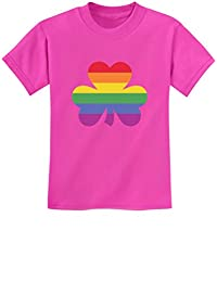 St.Patrick's Lucky Charm Rainbow Clover Gay & Lesbian Pride Youth Kids T-Shirt