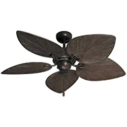 Bombay Tropical Ceiling Fan in Oil Rubbed Bronze 42""