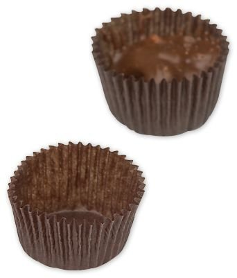 (Brown Glassine Candy Cups, 1 1/8 x 3/16