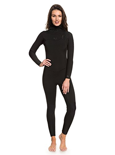 Roxy Womens 5/4/3Mm Syncro Series - Hooded Chest Zip GBS Wetsuit - Women - 4 - Black Black 4