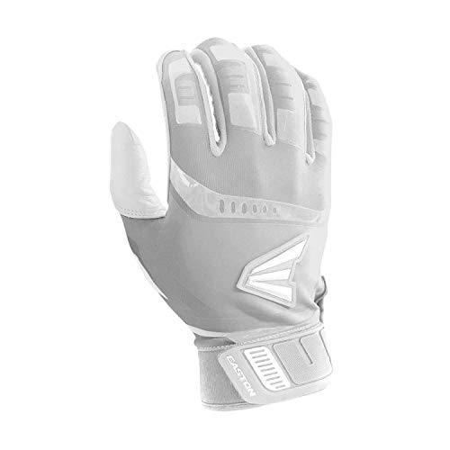 EASTON WALK-OFF Batting Gloves   Pair   Baseball Softball   Adult   Large   White   2020   Smooth Leather Palm   Lycra for Flexibility & Premium Silicone for Structure & Look   Neoprene Closure