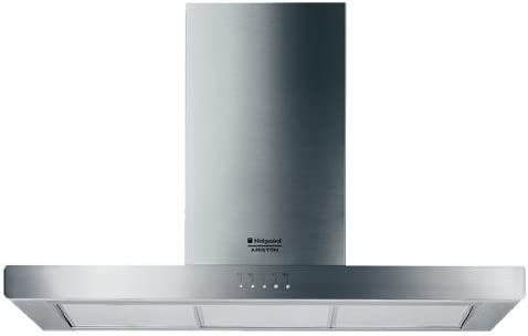 Hotpoint HB 90 P/HA De pared Acero inoxidable 1100m³/h - Campana (1100 m³/h, Recirculación, 52 dB, De pared, Acero inoxidable, 80 W): Amazon.es: Hogar