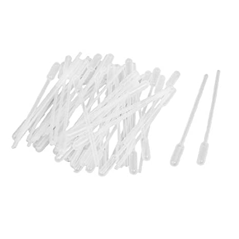 eDealMax 50 piezas de plástico Blanco claro 4, 5 Largo Líquido gotero pipeta Pasteur: Amazon.com: Industrial & Scientific
