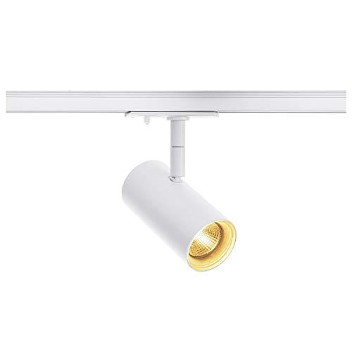 SLV NOBLO Spot - Foco (2700 K, 36°, incluye 1 adaptador de bombilla, aluminio, 7,5 W), color blanco