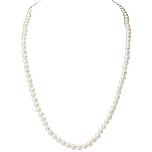 Cultured Freshwater Pearl Strand Necklace with 14k Gold Clasp- 18 IN (4.5-5mm Pearls)