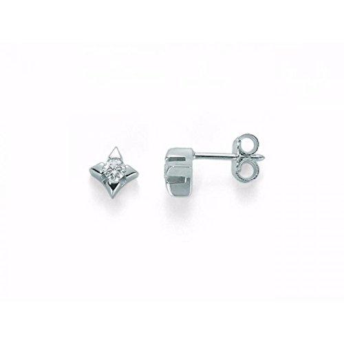 Boucles d'oreilles MILUNA 8Cœurs erd1590_ 010or blanc diamant