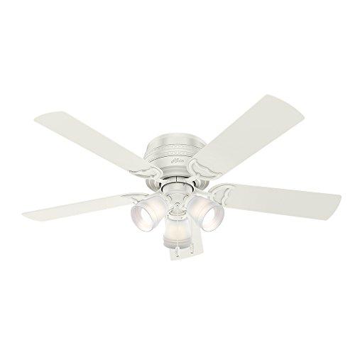 "Hunter Fan Company 53385 Prim Hunter 52"" Ceiling Fan with Light, Large, Fresh White"