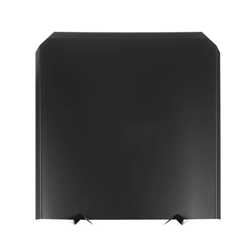 (HY-C FB2727 Fireback, Stainless Steel Painted Black, Adjustable Installation, Protects Firebox, 27