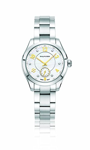 Philip Stein Women's 'Traveler' Swiss Quartz Stainless Steel Casual Watch, Color:Silver-Toned (Model: 91-DWMOP-SS)