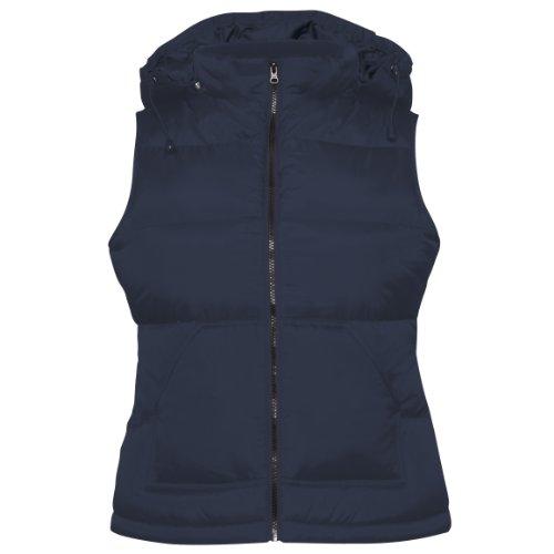 B&C - Chaleco modelo Zen+ con capucha para mujer Blanco