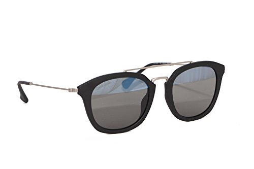 20 BLACK acetato 50 MATTE CK3195S SMOKE Calvin Platinum Klein A MIRROR 140 GREY Geométrico hombre 115 qp06f