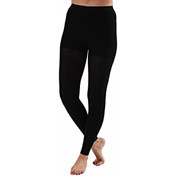 ca7996d34c Graduated Compression Leggings with Control Top, Compression Tights -  Compression Stockings Women- Firm Support 20-30mmHg (Large, Black)