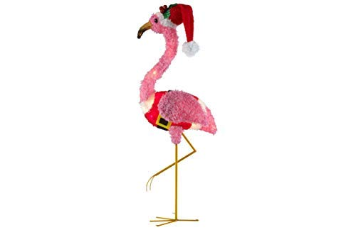 (Holiday Time Light-Up Fluffy Flamingo (Pink Fluffy Flamingo) -)