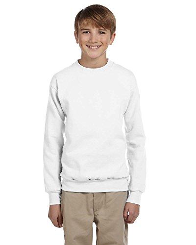 Hanes Youth ComfortBlend? EcoSmart Crew 7.8 Oz Sweatshirt, White, M ()