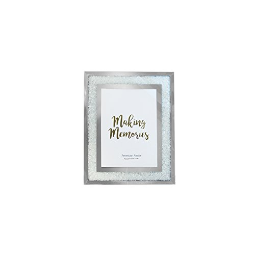Jay Imports 4x6 Mirror Picture Photo Frame With Crushed Crystals