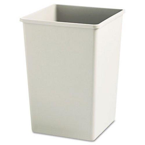 Rubbermaid Commercial 395800BG Plaza Waste Container Rigid Liner, Square, Plastic, 35gal, Beige