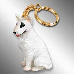 (Conversation Concepts Bull Terrier Dog Keychain - White)