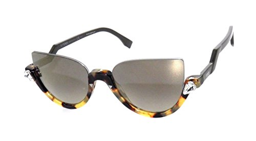 Fendi BLINK FF 0138/S N75/VD Havana Spotted Green/ Gray Flash Gold - Blink Sunglass