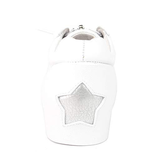 Buzz De Blanco Ash Cuero Zapatillas Mujer Blanco Color Footwear 5qftO