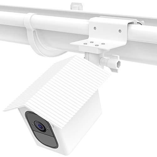 Weatherproof Housing - Koroao Weatherproof Housing Gutter Mount for Arlo Pro, Arlo Pro 2 - Sunscreen and Rustproof Outdoor Holder with Wider Perspective(White)