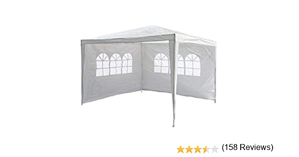 Nexos Trading - Carpa para jardín (3 x 3 m, Impermeable, 2 Laterales), Color Blanco: Amazon.es: Jardín
