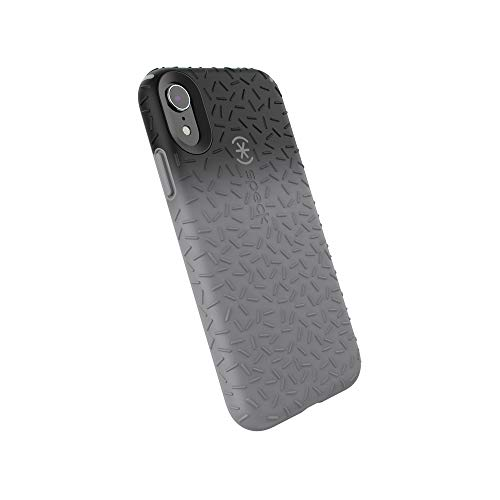 Speck Products CandyShell Fit iPhone XR Case, Black Ombre Gunmetal/Gunmetal Grey