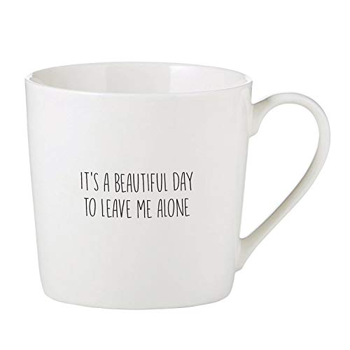 (It's A Beautiful Day To Leave Me Alone Cafe Coffee Mug )