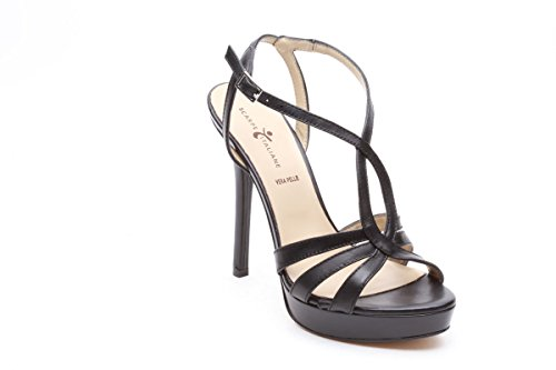 Scarpe italiane sandali tacco spillo nero