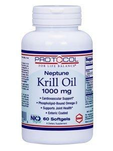 Protocol for Life Balance Neptune Krill Oil, 1000 Mg, 60 Softgels by Protocol For Life Balance