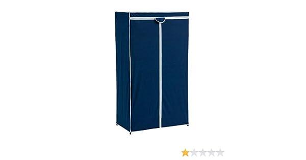 Armario de Tela Azul con 1 balda Moderno para Dormitorio Vitta - LOLAhome: Amazon.es: Hogar