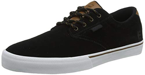 Etnies Men's Jameson Vulc Skate Shoe, Black/Gold, 5 Medium US