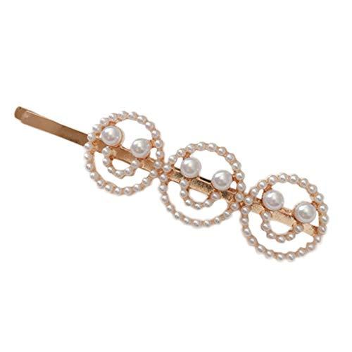 MiniPoco Women's Hairpin -Women Pearl Word Letters Hair Clip Slide Hair Pin Barrette Bridal Hair Accessory
