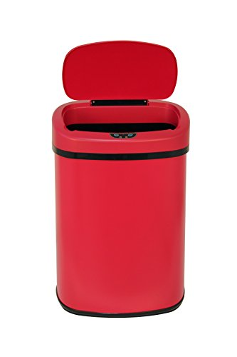 New Red 13-Gallon Touch Free Sensor Automatic   Kitchen Office ()