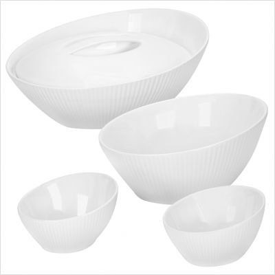 Corningware Scandia White 5 Piece Bakeware Set by CorningWare