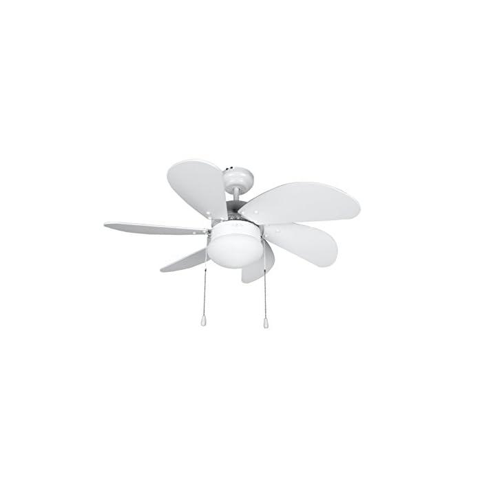 Ventilador de techo Orbegozo con luz 6 aspas de 80 cm de diámetro Motor con potencia de 50W