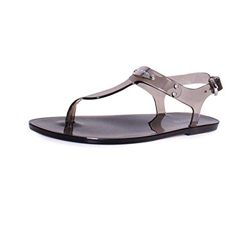 fc612b829f29 Michael Kors Plate PVC Jelly Sandals in Smoke