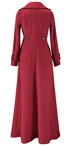 Automne Slim Fit Battercake Revers Mode Manteau Parker Outerwear Rouge Longues Uni Coat Hipster Casual Printemps Manches Button Fashion Manche Chic Femme Trench TUwxqSU