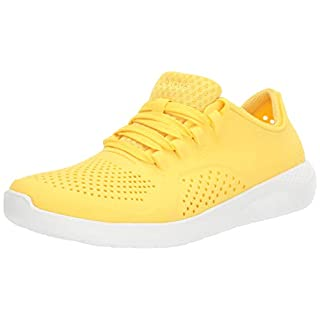 Crocs womens Literide Pacer Sneaker, Sunshine/White, 4 US