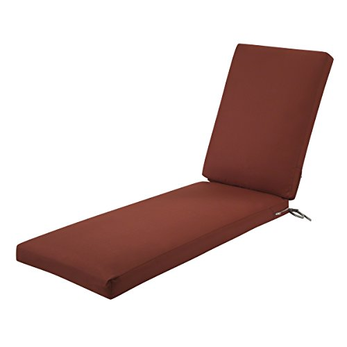 Classic Accessories Ravenna Outdoor Patio Chaise Lounge Cushion, Spice, 72