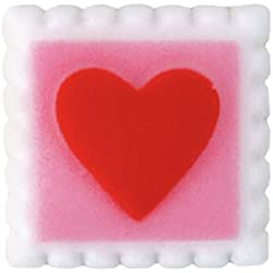 Valentines Day Sealed with a Kiss Sugar Decorations Cookie Cupcake Cake 12 Count