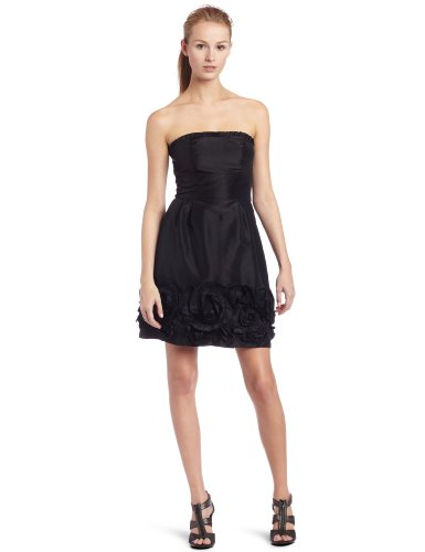 (maxandcleo Women's Strapless Pleated Dress, Black, 8)