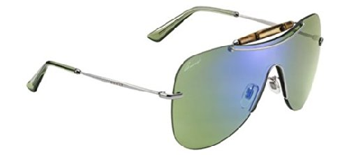 (Gucci GG 4262/S 6LBHZ Ruthenium / Green Mirror Sunglasses)
