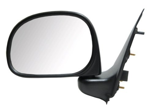 (97-02 Pickup Manual Foldaway Side View Door Mirror Black Assembly Driver Left LH)