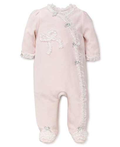 Little Me Baby Footie, Ribbon Bow New, 9 Months