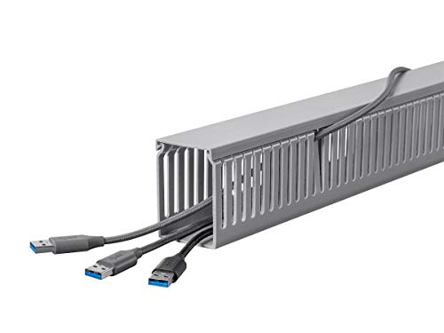 (Monoprice Open Slot Wiring Raceway Duct with Cover, 6 Feet Long)