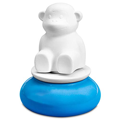 Monkey, Wicking Aroma Diffuser | Portable Ceramic and Porcelain Diffuser for Essential Oils | Small Décor for Home or Office | 2 Weeks per Fill, 15mL Reservoir | No Electricity or Water Required