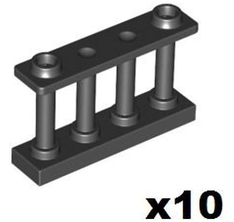10x lego ® valla rejilla elementos vallas Fence 1x4x2 blanco White