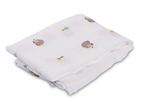 lulujo Baby Swaddling Blanket Hedgehog